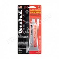 Герметик-прокладка Done Deal (формирователь) силиконовый красный термостойкий (42,5гр)