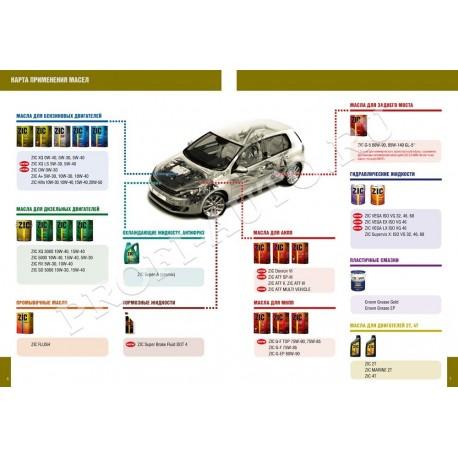 Масло ZIC Gear EP 80w90 GL-4 (4л) синт.