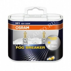 Лампа H1 12V/55W P14.5s Fog Breaker Duo-box OSRAM (бокс 2шт)