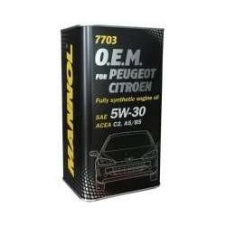 Масло Mannol O.E.M. PEUGEOT CITROEN 5w30 ACEA A5/B5 ACEA C2 (4л) синт. (металл)