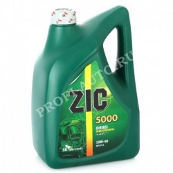 Масло ZIC X5000 10w40 Diesel CI-4/SL A3/B4/E7 ( 6л) п/синт