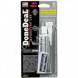 Герметик-прокладка Done Deal (формирователь) силиконовый серый термостойкий (42,5гр)