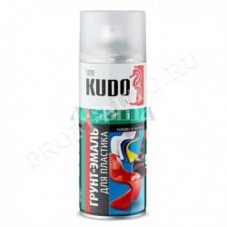 Грунт-эмаль KUDO для пластика зеленая (RAL 6005) (520мл) Аэрозоль