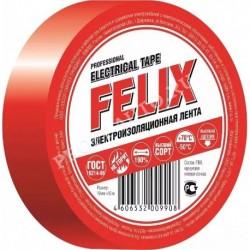 Изолента FELIX красная 19мм х 10м